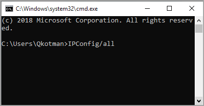 IP Config All